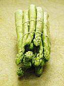 A bundle of green asparagus