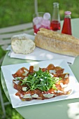 Bresaola rucola e parmigiano (bresaola with rocket and parmesan)