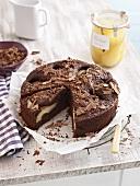 Helene cake with pears