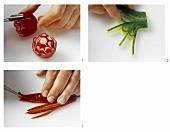 Schnitzereien bilder - Gurken dekorativ schneiden ...