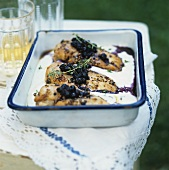 Chicken breast with blueberries
