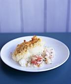 Haddock pie with shrimps