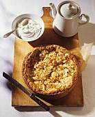 Apple cake with almonds