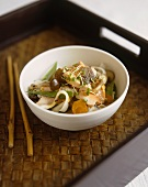 Asian fish and vegetables
