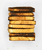 A pile of burnt toast