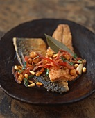 Pickled, sweet-sour fried mackerel fillets
