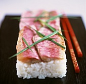 Oshi-Sushi mit Pink Snapper