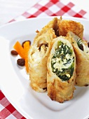 Stuffed puff pastry rolls (Greece)