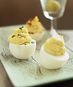 Deviled eggs (Stuffed, hard-boiled eggs)