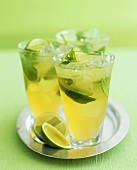 Green tea and lime punch