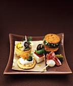 An assortment of festive canapes