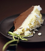 White chocolate and hazelnut mousse dome