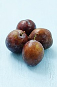 Four Polish Wegierka Dabrowicka plums
