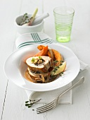 Stuffed pork fillet with mushrooms and pumpkin