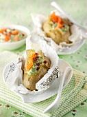 Scandinavian-style baked potatoes