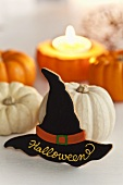 Pumpkins and witch's hat biscuit