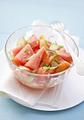 Watermelon and blood orange salad