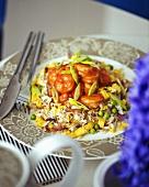 Rice with prawns