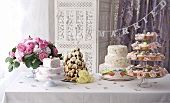 A selection of wedding cakes