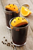 Mulled wine with clove-studded oranges