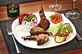 Champ Kandhari (Marinated, grilled lamb chops)