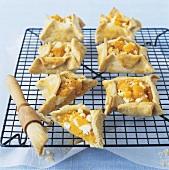 Pumpkin and goat's cheese tarts