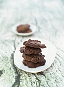 Chocolate chip cookies with black olives