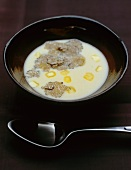 Potato and celeriac soup with truffles