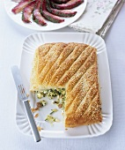 A courgette and feta pie