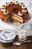 Mocca walnut cake