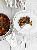 Lamb stew with quinces