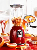 Kitchen scene with liquidiser and grapefruits