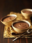 Chocolate mousse in small bowls