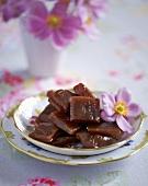 Home-made raspberry sweets
