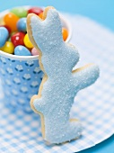 Jelly beans and Easter Bunny biscuit