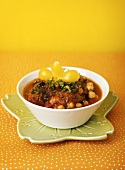 Vegetable stew with chick-peas