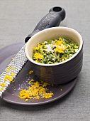 Ingredients for gremolata