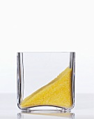 Cornmeal in a square glass