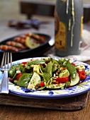 Vegetable salad with pine nuts (Spain)