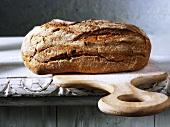 Farmhouse bread on a chopping board