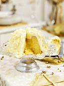 Lemon cake with white chocolate for Christmas