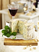 Stilton on chopping board (Christmas)