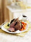 Christmas lamb chops with carrots