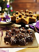 Chocolate cake and toffee cake for Christmas dinner