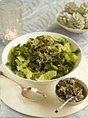 Steamed savoy cabbage