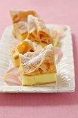 Karpatka (choux pastry cake with vanilla pudding, Poland)