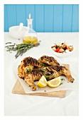 Grilled lemon and lavender chicken