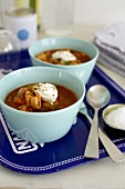Fish soup with creme fraiche