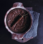 Moelleux au chocolat with a chili pepper