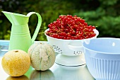 Still life with red currants